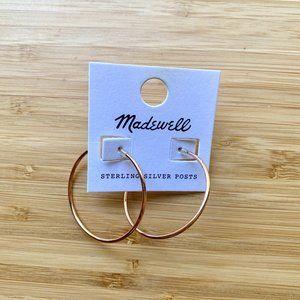 NEW Madewell Rose Gold Hoop Earrings